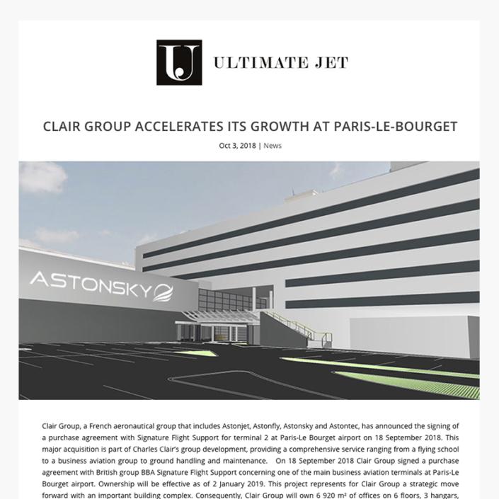 Clair Group accélère sa croissance à Paris Le Bourget
