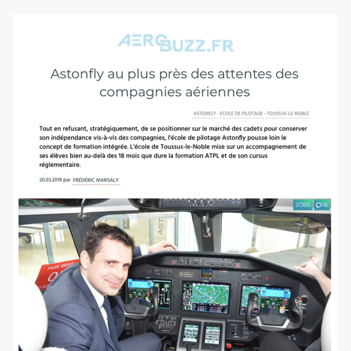 Astonfly au plus près des attentes des compagnies aériennes