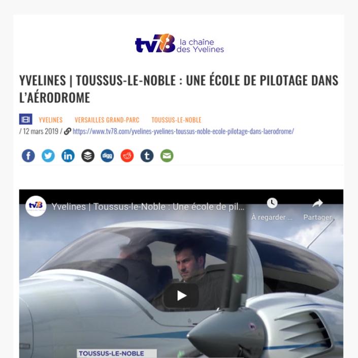 Toussus-le-Noble - Une école de pilotage dans l'aérodrome