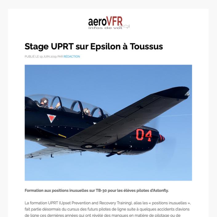 Stage UPTR sur epsilon à Toussus