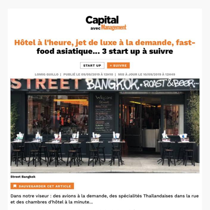 3 start up à suivre - Article Capital avec Management