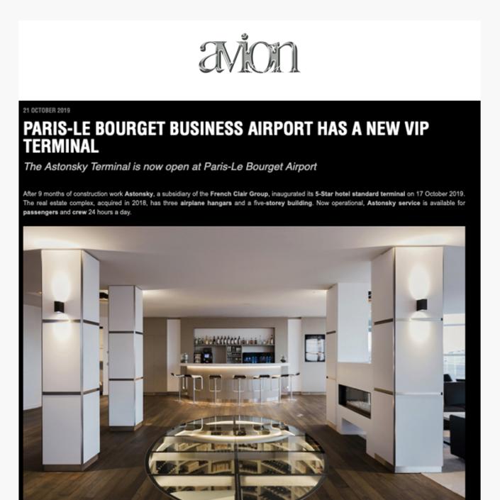 L'aéroport d'affaire de Paris Le Bourget dispose d'un nouveau terminal VIP