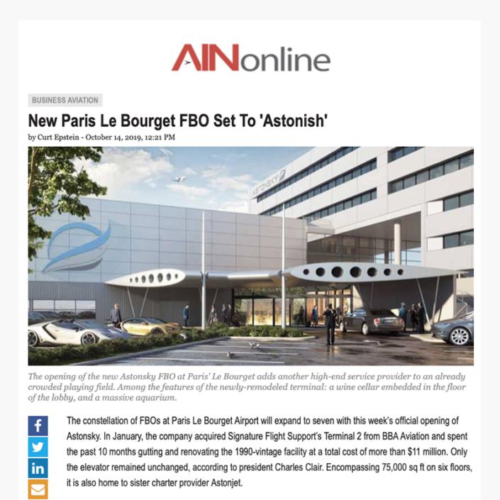 Le nouveau FBO de Paris Le Bourget -Ainonline
