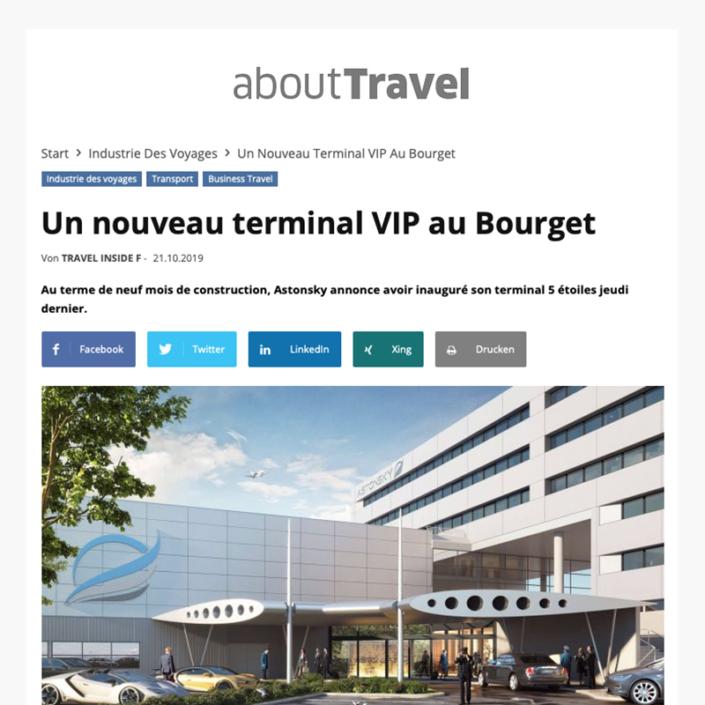 Un nouveau terminal VIP au Bourget - Site Abouttravel.com