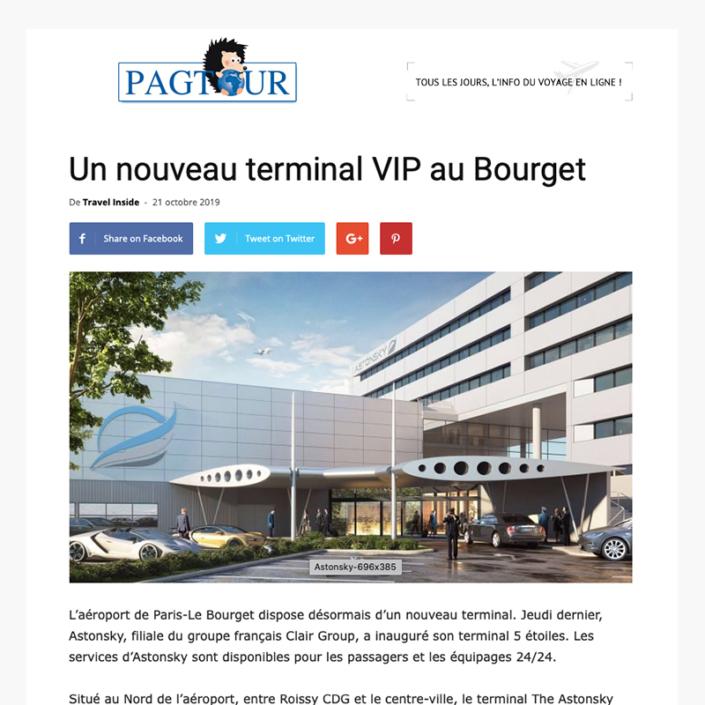 Un nouveau terminal VIP au Bourget - Site Pagtourcom