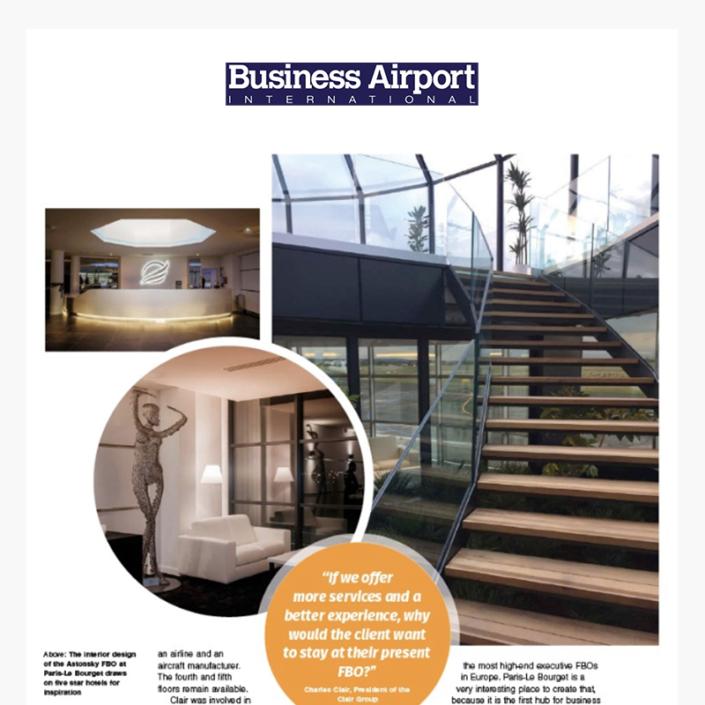 Le terminal Astonsky vise le marché du luxe à Paris, Le Bourget