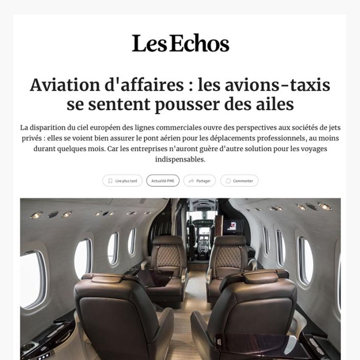 Aviation d'affaires - les avions-taxis se sentent pousser des ailes
