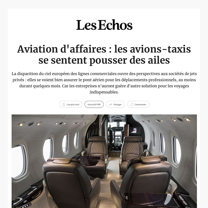 Aviation d'affaires - les avions-taxis se sentent pousser des ailes