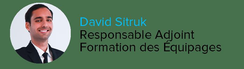 David Sitruk Responsable Adjoint Formation des Équipages Astonjet