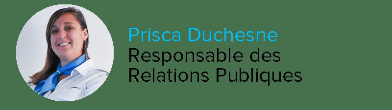 Prisca Duscène Responsable des Relations Publiques Astonfly