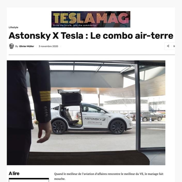 Astonsky dans Tesla Magazine