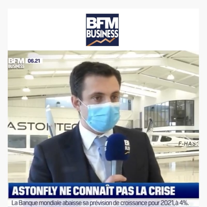 Astonfly ne connait pas la crise dans BFM Business